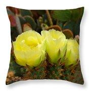 Prickly Pear Trio Throw Pillow