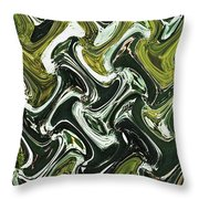 Prickly Pear With Green Fruit Abstract Throw Pillow