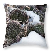 Prickly Pears Throw Pillow