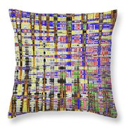 Prickly Poppy And Colors Abstract. Throw Pillow