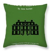 Pride And Prejudice Greatest Books Ever Series 016 Throw Pillow