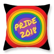 Pride Circles Throw Pillow
