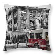 Pride, Commitment, And Service -after The Fire Throw Pillow