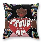 Pride Goddess Throw Pillow