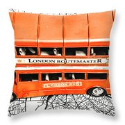 The Pride Of London Throw Pillow