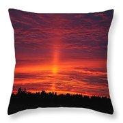 Pride Of The Prairie Sunset Throw Pillow
