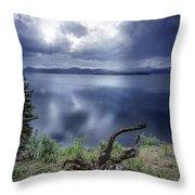 Priest Lake Light Throw Pillow
