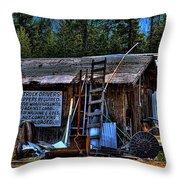 Priest Lake Lumber Mill Throw Pillow