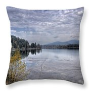 Priest River Panorama 8 Throw Pillow