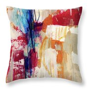 Primary 2- Abstract Art By Linda Woods Throw Pillow