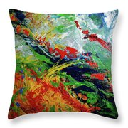 Primary Abstract I Detail 3 Throw Pillow