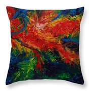 Primary Abstract II Detail 2 Throw Pillow