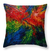 Primary Abstract II Throw Pillow