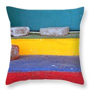 Primary Colored Doorstep Throw Pillow