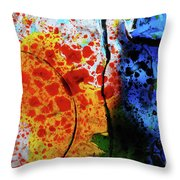 Primary Crystal Abstract Throw Pillow