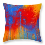 Primary Fluidity Throw Pillow