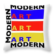 Primary Modern Throw Pillow