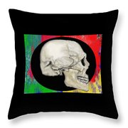 Primary Skull Throw Pillow