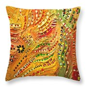 Primitive Abstract 3 By Rafi Talby Throw Pillow