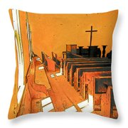 Primitive Church - Sunday Morning Throw Pillow