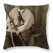 Primitive Man Throw Pillow