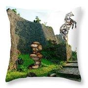 Primitive Statues Throw Pillow