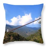 Primitive Suspension Bridge Throw Pillow