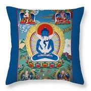 Primordial Buddha Kuntuzangpo Throw Pillow