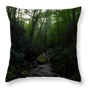 Primordial Forest Throw Pillow