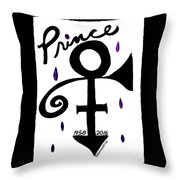 Prince 1958-2016 Throw Pillow