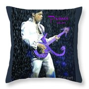 Prince 1958 - 2016 Throw Pillow