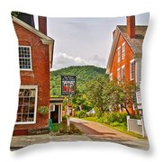 Prince And The Pauper Restaurant In Woodstock-vermont  Throw Pillow