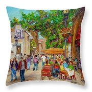 Prince Arthur Restaurants Montreal Throw Pillow