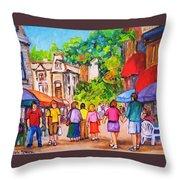 Prince Arthur Street Montreal Throw Pillow