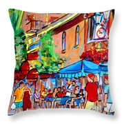 Prince Arthur Street Summer Throw Pillow