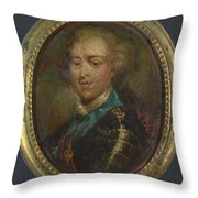 Prince Charles Edward Stuart The Young Pretender Throw Pillow
