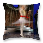 Prince Charming In Blurred Spin While Dancing In Ballet Jorgen P Throw Pillow