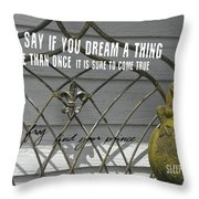 Prince Charming Quote Throw Pillow
