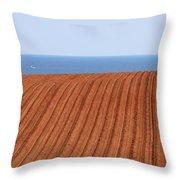 Prince Edward Island Fields 5645 Throw Pillow