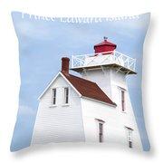 Prince Edward Island Lighthouse Poster Throw Pillow