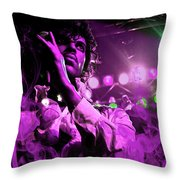 Prince In Concert Throw Pillow