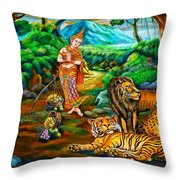 Prince In The Forest Of Life Throw Pillow