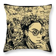 Prince Of Darkness Throw Pillow