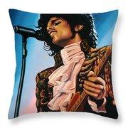 Prince Painting Throw Pillow