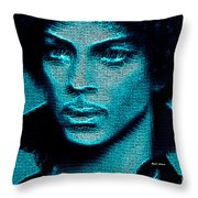 Prince - Tribute In Blue Throw Pillow