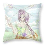 Princess Altiana Colour Throw Pillow