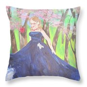 Princess In The Forest Throw Pillow