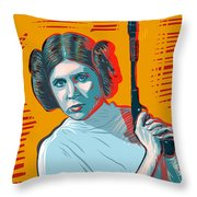 Princess Leia Throw Pillow by Antonio Romero