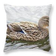 Princess Mallard Throw Pillow