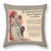 Princess Rospigliosi Ephemera Vintage Throw Pillow